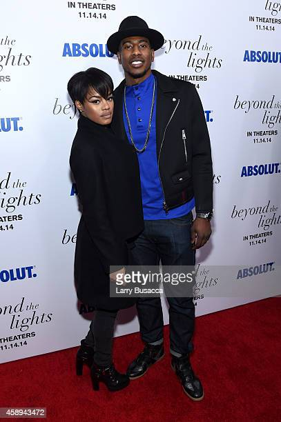 Teyana Taylor and basketball player Iman Shumpert attend The New York Premiere Of Relativity Media's 'Beyond the Lights' on November 13 2014 in New...