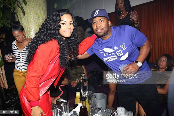 Teyana Taylor and Chauncey Hamlett attend Corzo Presents Dwyane Wade And JR Smith NBA AllStar Weekend at Belvedere on February 17 2013 in Houston...
