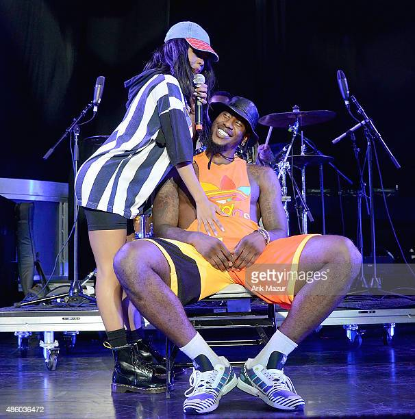 Teyana Taylor and Iman Shumpert onstage at Nikon at Jones Beach Theater on August 30 2015 in Wantagh New York