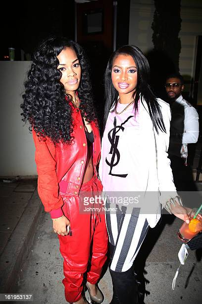Teyana Taylor and Onney the Poetic Diva attend Corzo Presents Dwyane Wade And JR Smith NBA AllStar Weekend at Belvedere on February 17 2013 in...