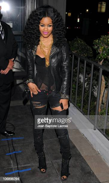 Teyana Taylor arrives at the Los Angeles premiere of 'Runaway' held at Harmony Gold Theatre on October 18 2010 in Los Angeles California