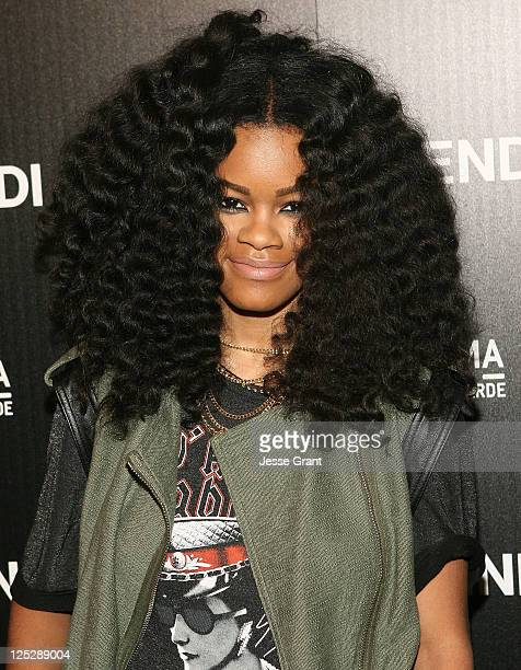 Teyana Taylor arrives to the FENDI Boutique Opening at the Beverly Center on October 7 2010 in Los Angeles California