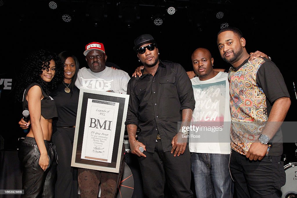 Teyana Taylor, Catherine Brewton, Greg Street, Young Jeezy, Mr. Collipark and Byron Wright on stage during BMI's 15th annual Unsigned Urban showcase at Terminal West on April 11, 2013 in Atlanta, Georgia.