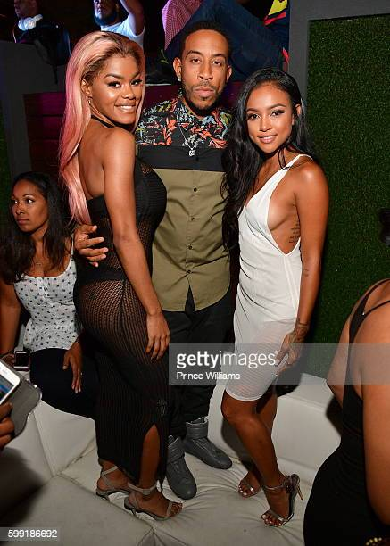 Teyana Taylor Chris 'Ludacris' Bridges and Karreuche Tran attend LudaDay weekend at Compound on September 2 2016 in Atlanta Georgia