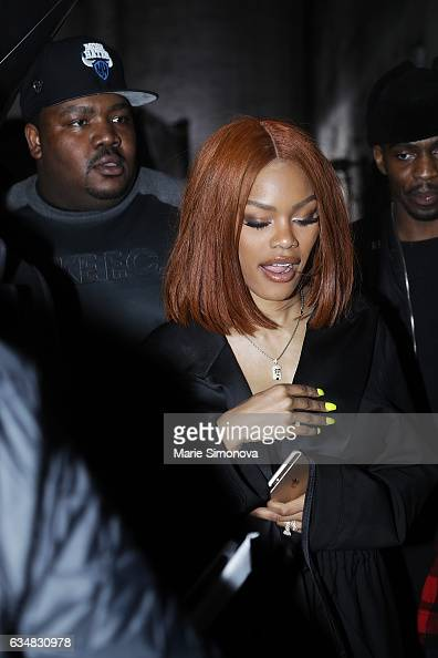 Teyana Taylor is seen ...