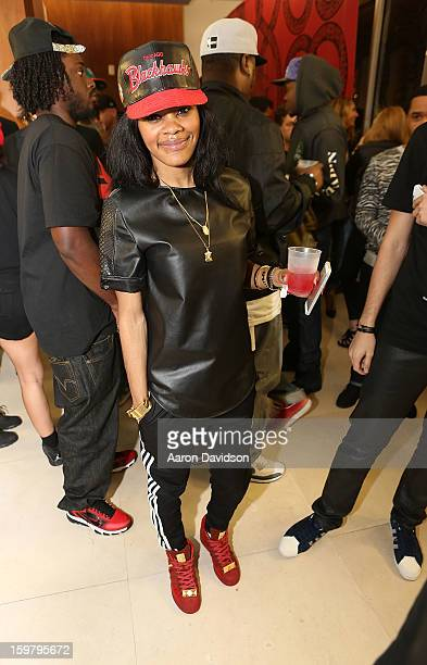 Teyana Taylor is seen at The Grand Opening of 1973 by Mr Sports on January 19 2013 in Miami Beach Florida