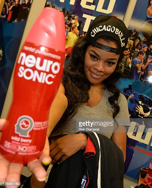 Teyana Taylor Recording artist/actress during Neuro Drinks At LudaDay Weekend Celebrity Basketball Game at GSU Sports Arena on September 1 2013 in...