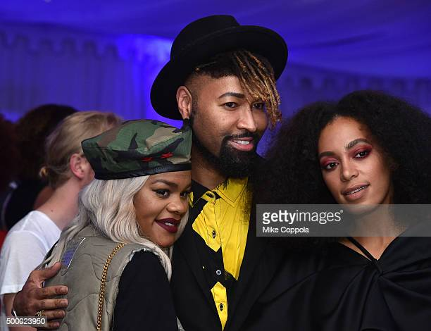 Teyana Taylor Ty Hunter and Solange Knowles attends The 6th Annual Bombay Sapphire Artisan Series Grand Finale Cohosted By Russell Simmons And...