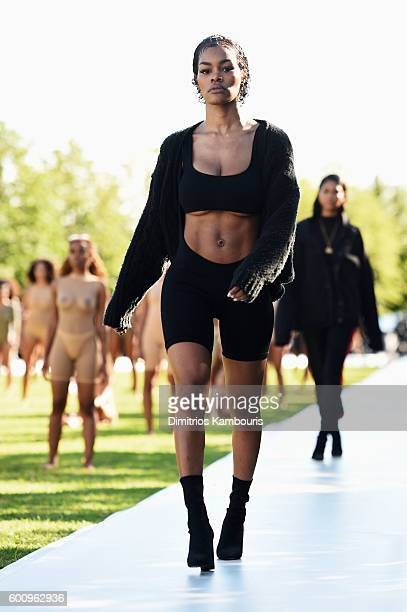 Teyana Taylor walks the runway at the Kanye West Yeezy Season 4 fashion show on September 7 2016 in New York City