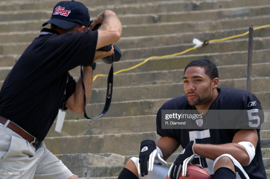 Teyo Johnson Raiders during Reebok NFL Players Rookie Premiere Presented by 989 Sports at LA Coliseum in Los Angeles California United States