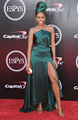 Teyonah Parris arrives at The 2016 ESPYS at Microsoft Theater on July 13 2016 in Los Angeles California