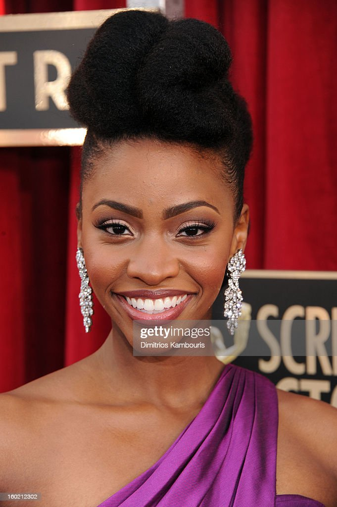 Teyonah Parris attends the 19th Annual Screen Actors Guild Awards at The Shrine Auditorium on January 27, 2013 in Los Angeles, California. (Photo by Dimitrios Kambouris/WireImage) 23116_013_0487.jpg