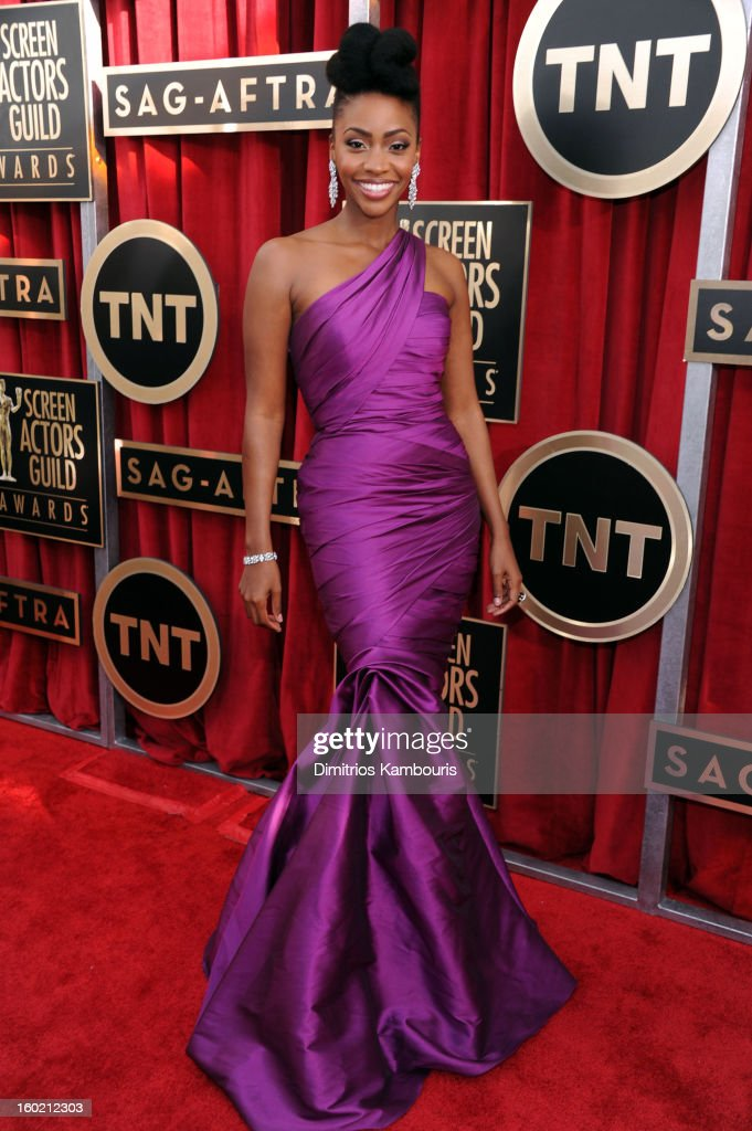 Teyonah Parris attends the 19th Annual Screen Actors Guild Awards at The Shrine Auditorium on January 27, 2013 in Los Angeles, California. (Photo by Dimitrios Kambouris/WireImage) 23116_013_0479.jpg
