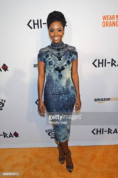 Teyonah Parris attends the world premiere of 'ChiRaq' at The Chicago Theatre on November 22 2015 in Chicago Illinois