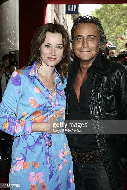 Tf1 Press Conference At The Olympia In Paris France On August 29 2007 Marine Delterme and JeanMichel Tinivelli