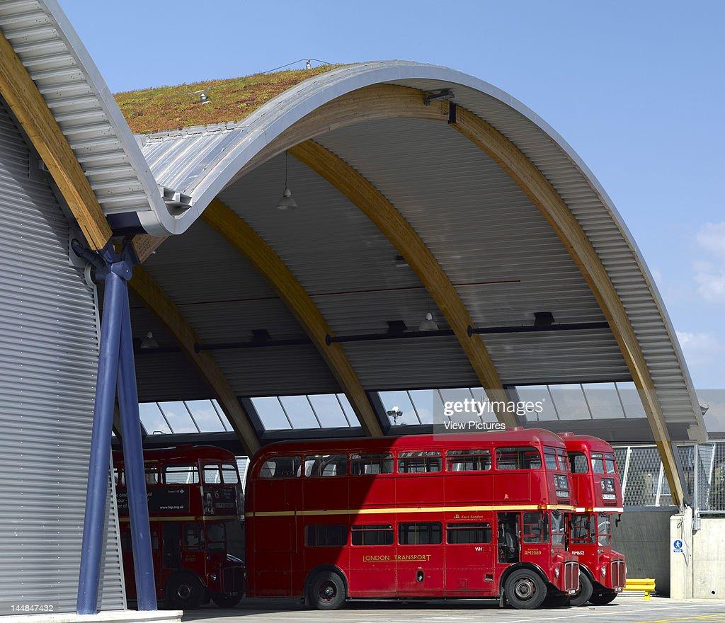 Tfl West Ham Bus Garage West Ham London E16 United Kingdom Architect Pringle Richards Sharratt Tfl West Ham Bus GarageView Towards Bus Shelter