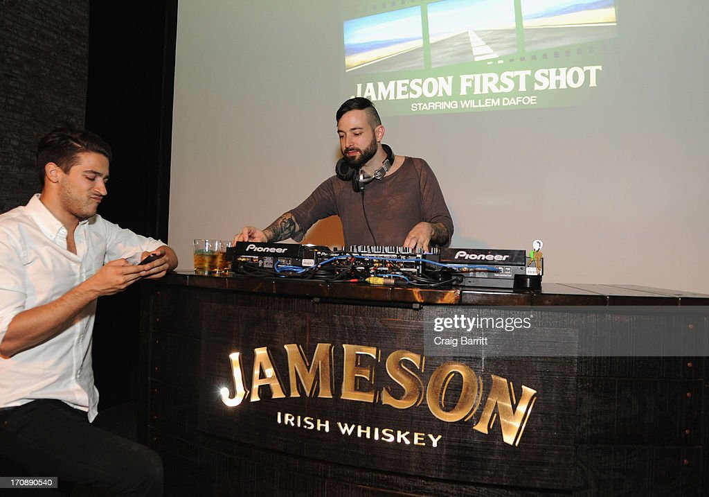 Th DJ performs at the Jameson First Shot premiere of Love's Routine, the winning US film from the Trigger Street Productions at Wythe Hotel on June 19, 2013 in Brooklyn, New York.