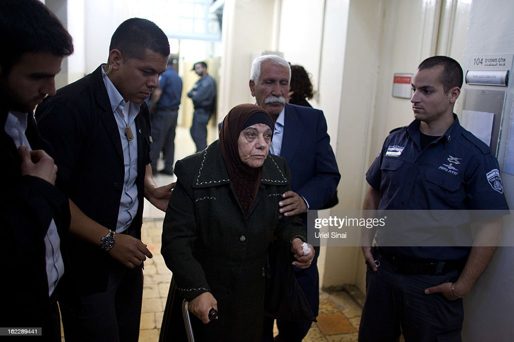Tha parents of Samer al-Issawi, a Palestinian prisoner who is on a hunger strike, arrive at the Magistrate's Court which is to rule on Issawi's case on February 21, 2013 in Jerusalem, Israel. Issawi, one of the prisoners who was released under terms of the 2011 Gilad Shalit prisoner swap, was rearrested last July on charges of violating the terms of his release when he took his car to a garage in the West Bank.