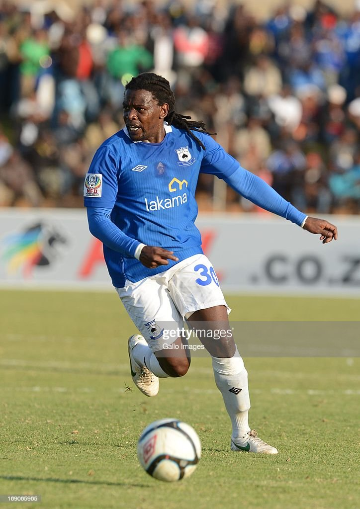 Thabeng Rooi during the National First Division match between Black Aces and Thanda Royal Zulus from Themba Senamela Stadium on May 19, 2013 in Middelburg, South Africa.