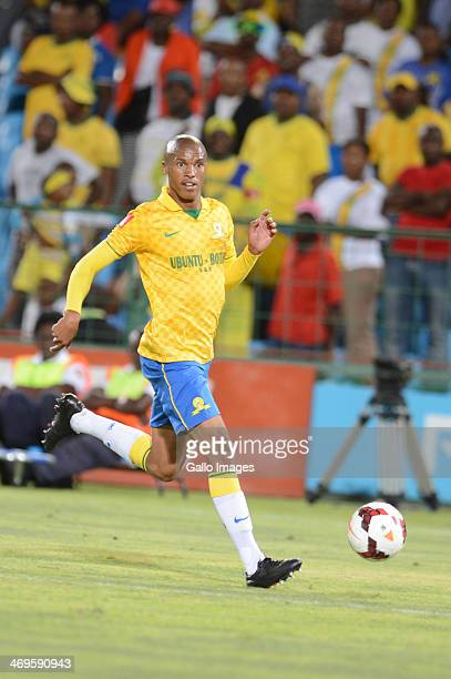 Thabo Nthethe during the Absa Premiership match between Mamelodi Sundowns and Ajax Cape Town at Loftus Stadium on February 15 2014 in Pretoria South...