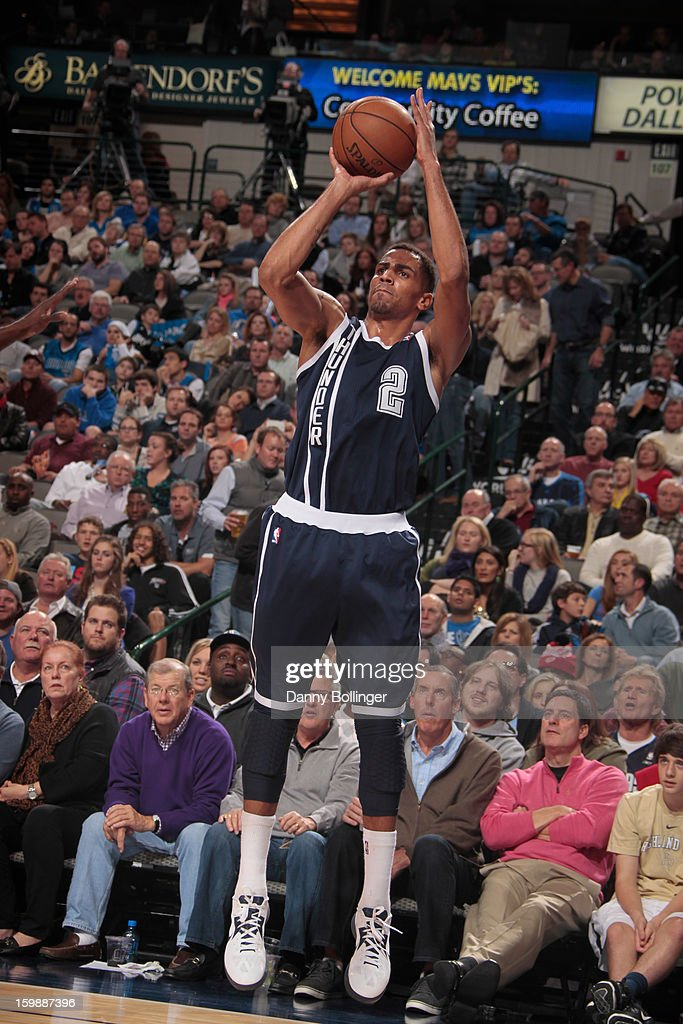 <a gi-track='captionPersonalityLinkClicked' href=/galleries/search?phrase=Thabo+Sefolosha&family=editorial&specificpeople=587449 ng-click='$event.stopPropagation()'>Thabo Sefolosha</a> #2 of the Oklahoma City Thunder takes a shot against the Dallas Mavericks on January 18, 2013 at the American Airlines Center in Dallas, Texas.