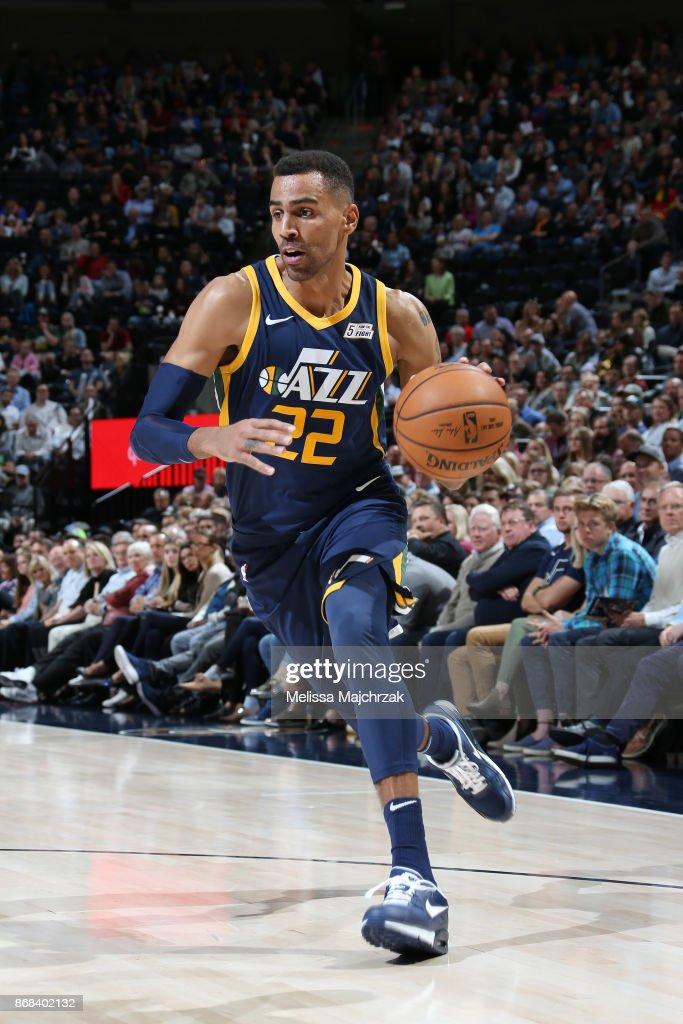 Thabo Sefolosha #22 of the Utah Jazz handles the ball against the Dallas Mavericks on October 30, 2017 at Vivint Smart Home Arena in Salt Lake City, Utah.
