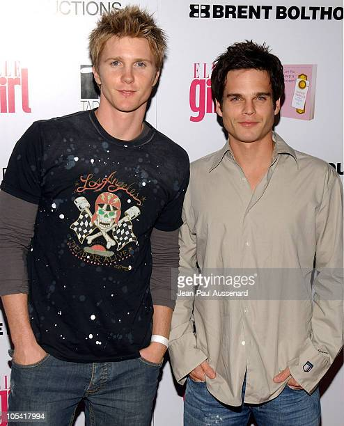 Thad Luckinbill and Greg Rikaart during ELLEGIRL's 1st Annual Hollywood Prom Arrivals at Hollywood Athletic Club in Hollywood California United States
