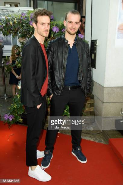 Thaddaeus Meilinger and Eric Stehfest attend the 25th anniversary party of the TV show 'GZSZ' on May 17 2017 in Berlin Germany
