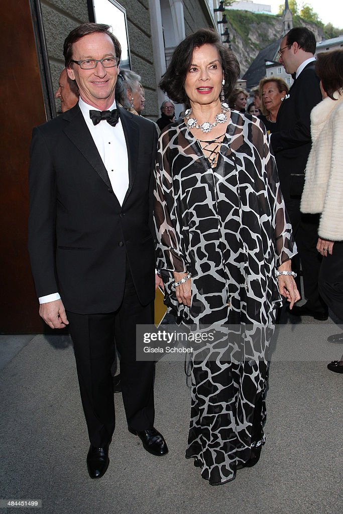 Thaddaeus Ropac and Bianca Jagger attend the opening of the easter festival 2014 (Osterfestspiele) on April 12, 2014 in Salzburg, Austria.