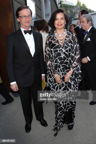 Thaddaeus Ropac and Bianca Jagger attend the opening of the easter festival 2014 on April 12 2014 in Salzburg Austria