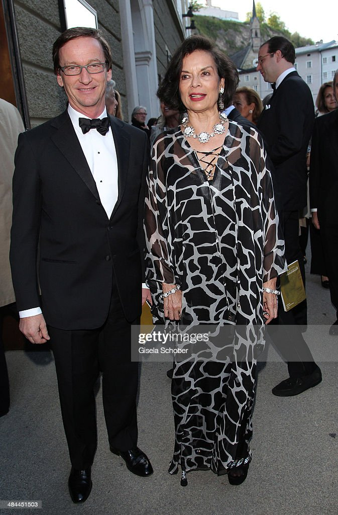 Thaddaeus Ropac and Bianca Jagger attends the opening of the easter festival 2014 (Osterfestspiele) on April 12, 2014 in Salzburg, Austria.
