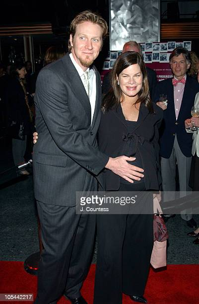 Thaddaeus Scheel and Marcia Gay Harden during A Work in Progress An Evening with Sofia Coppola After Party at Metronome in New York City New York...