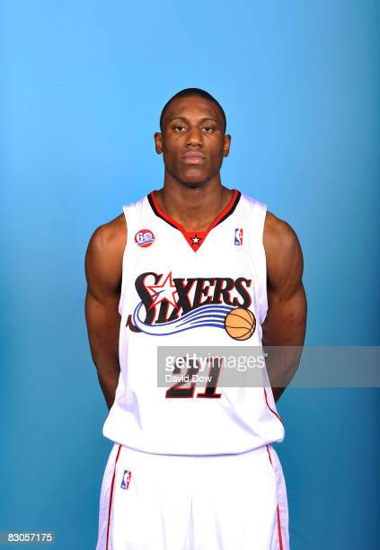 Thaddeus Young of the Philadelphia 76ers poses for a portrait during NBA Media Day on September 29 2008 at the Wachovia Center in Philadelphia...