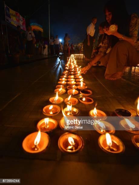 Thadingyut Festival, Botahtaung Pagoda, Yangon.