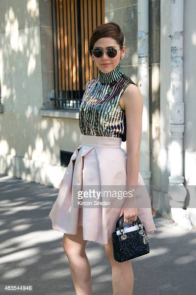 Thai Actress Araya Alberta Hargate wears all Dior on day 2 of Paris Fashion Week Haute Couture Autumn/Winter 2015 on July 6 2015 in Paris France