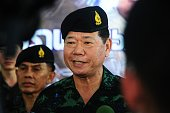 Thai Army CommanderinChief Teerachai Nakwanich visits troops at a military base in Thailand's restive southern province of Narathiwat on July 26 2016...
