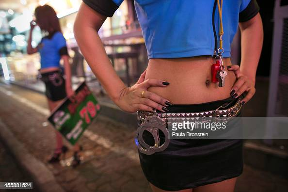 Thai bar girl stands in the red light district of Pattaya Thailand September 21 2014 Pattaya is tackling sex tourism and crime as the city attempts...