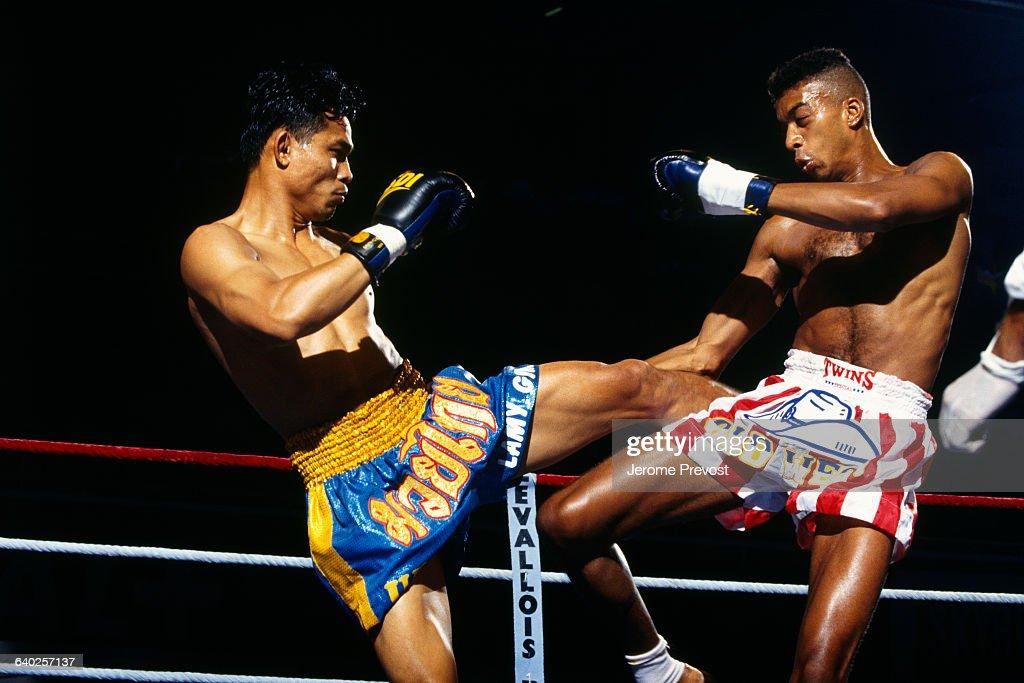 Thai boxers Krongsak and Stephane Nikiema