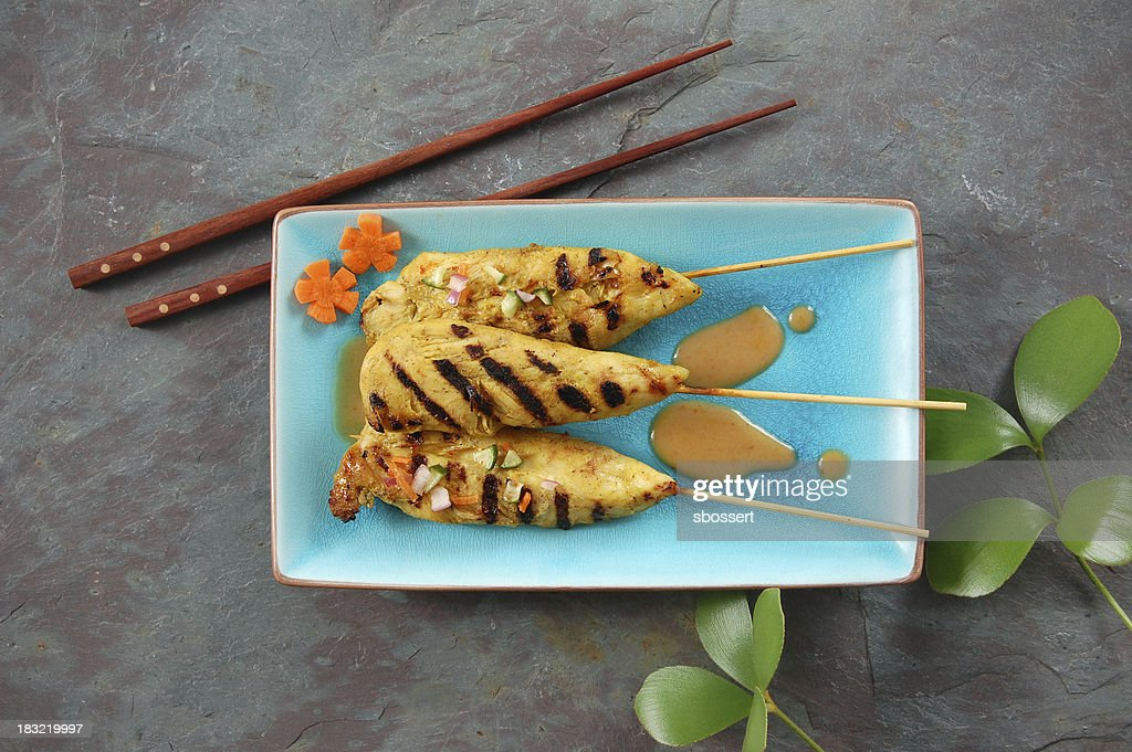 Thai Chicken Satay : Stock Photo