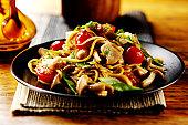 Thai chicken stirfry with noodles