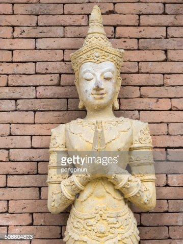 thai culture molded figure : Stock Photo