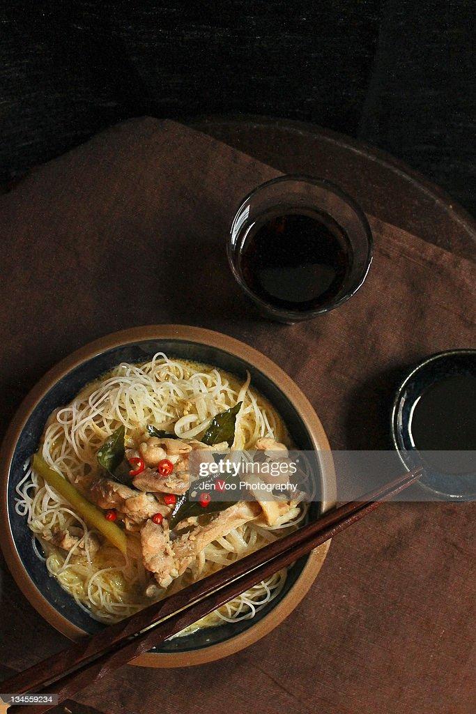 Thai curry noodles : Stock Photo