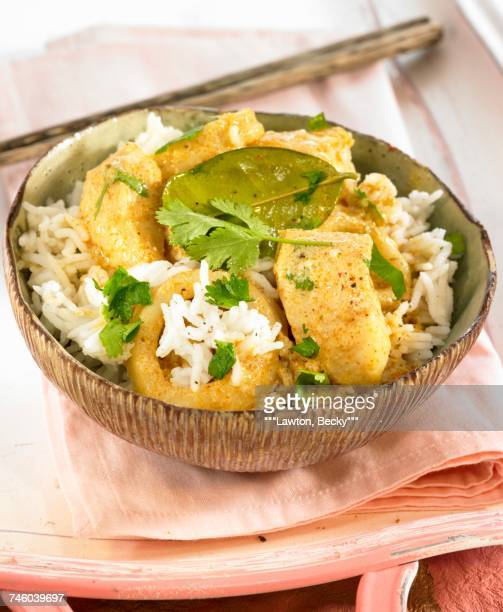 Thai curry with chicken and coconut milk