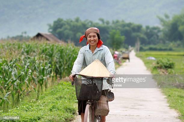 Thai Ethnic people in Mai Chau, Hoa Binh, Vietnam.