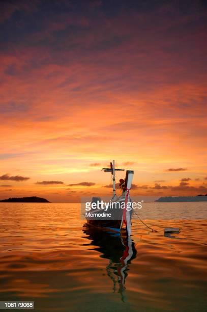 Thai Fishing Boat at Sunset