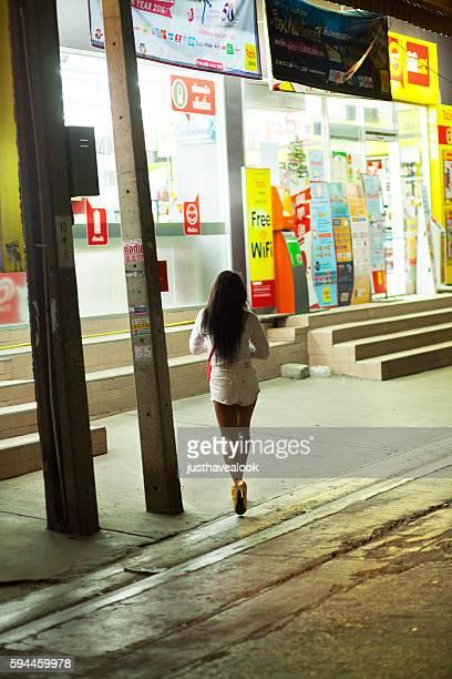 Thai girl with golden highheels