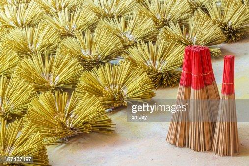 Thai Incenso preparação : Foto de stock
