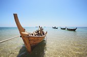 Thai longtail fishing boats
