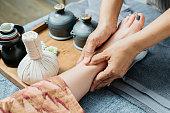 Thai massage series : Foot and leg massage