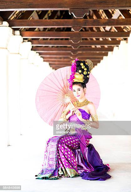 Thai Model with Umbrella